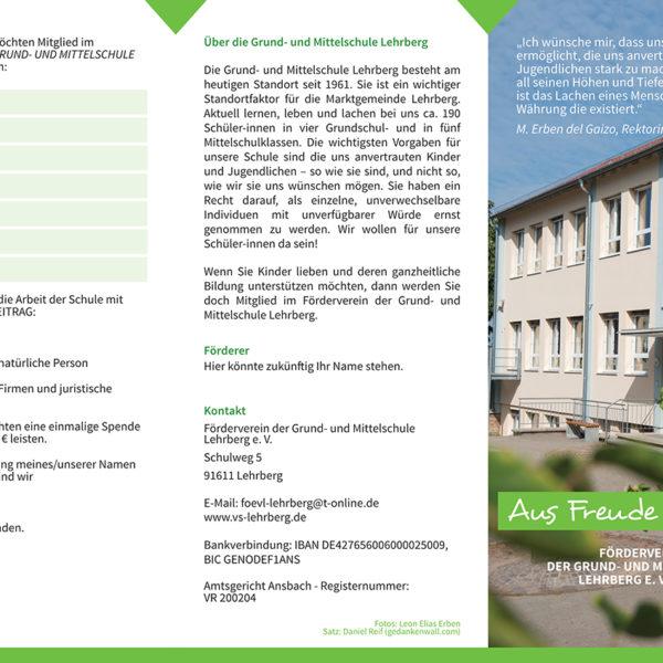 flyer school schule prospekt